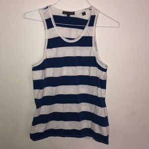 Slate and Stone Rugby Stripe Tank  LARGE